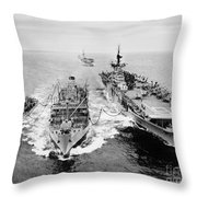 Korean War: Ship Refueling Throw Pillow
