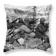 Korean War: Soldiers Throw Pillow