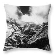Korean War: Trenches, 1952 Throw Pillow