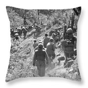 Korean War: Triangle Hill Throw Pillow
