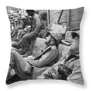 Korean War: U.n. Troops Throw Pillow