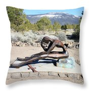 Korean War Veteran Memorial Throw Pillow