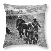 Korean War: Wounded, 1950 Throw Pillow