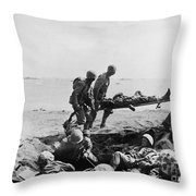 Korean War: Wounded Throw Pillow