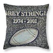 Korey Stringer Tribute Throw Pillow
