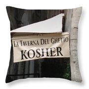 Kosher Throw Pillow