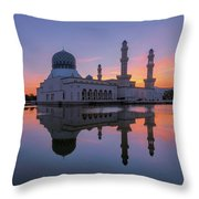 Kota Kinabalu City Mosque I Throw Pillow
