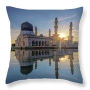 Kota Kinabalu City Mosque II Throw Pillow