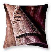 Koto - Japanese Harp Throw Pillow