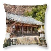 Kotoku-in Temple Throw Pillow