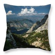 Kotor Bay Throw Pillow