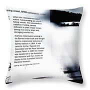 Mv Krait Historical Information Throw Pillow
