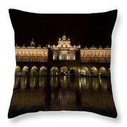Krakow Cloth Hall Throw Pillow