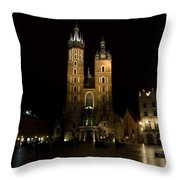 Krakow Saint Marys Basilica Throw Pillow