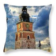 Krakow Town Hall Throw Pillow
