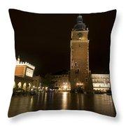 Krakow Town Hall Tower Throw Pillow