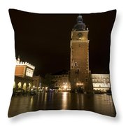 Krakow Town Hall Tower Throw Pillow