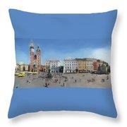 Krakow, Town Square Throw Pillow