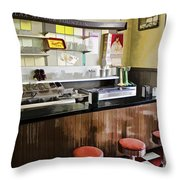 Kramers Drug Store Soda Fountain Throw Pillow