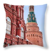 Kremlin Tower In Moscow Throw Pillow