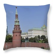 Kremlin Wall Panorama Throw Pillow