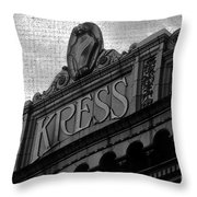Kress 1929 Throw Pillow