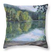 kress lake. kress lake in kalama wa throw pillow