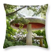 Krider Garden Mushroom Throw Pillow