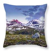 Crimson Peaks Throw Pillow by Dmytro Korol