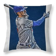 Kris Bryant Chicago Cubs Art 3 Throw Pillow
