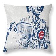 kris bryant CHICAGO CUBS PIXEL ART 2 Throw Pillow