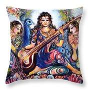 krishna - Kirtan  Throw Pillow
