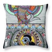 Krishna Matsya Throw Pillow