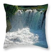 Krka National Park Waterfalls Throw Pillow