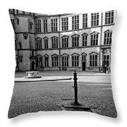 Kronborg Castle Courtyard Throw Pillow
