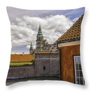 Kronborg Castle From The Moat House Throw Pillow