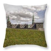 Kronborg Castle Moat Mound Throw Pillow