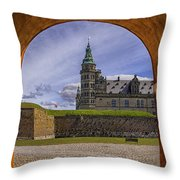 Kronborg Castle Through The Archway Throw Pillow