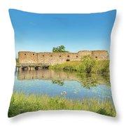 Kronoberg Castle Ruins Throw Pillow