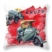 Krupp Street Sweeper Throw Pillow