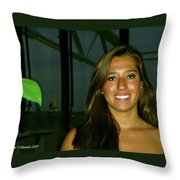 Krystal In Paris Throw Pillow