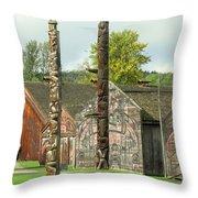 Ksan Historical Village Throw Pillow