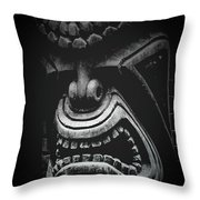 Ku Kii Tiki Hawaiian Culture Wood Carvings Demigods Throw Pillow