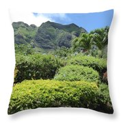 Kualoa Beauty Throw Pillow