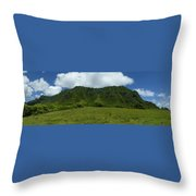 Kualoa Panorama Throw Pillow