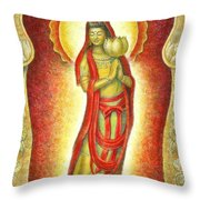 Kuan Yin Lotus Throw Pillow