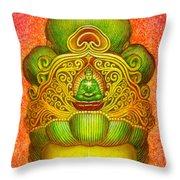 Kuan Yin's Buddha Crown Throw Pillow