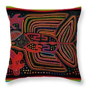Kuna Indian Flying Fish  Throw Pillow
