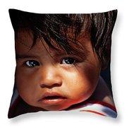 Kuna Yala Girl, Panama Throw Pillow
