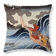 Kuniyoshi: Oban Print Throw Pillow
